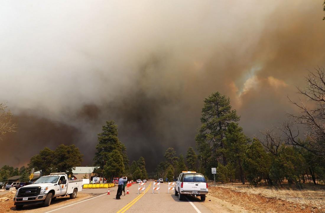 🇺🇸 Arizona : Un violent feu de forêt a déjà ravagé plus de 5 000 hectares