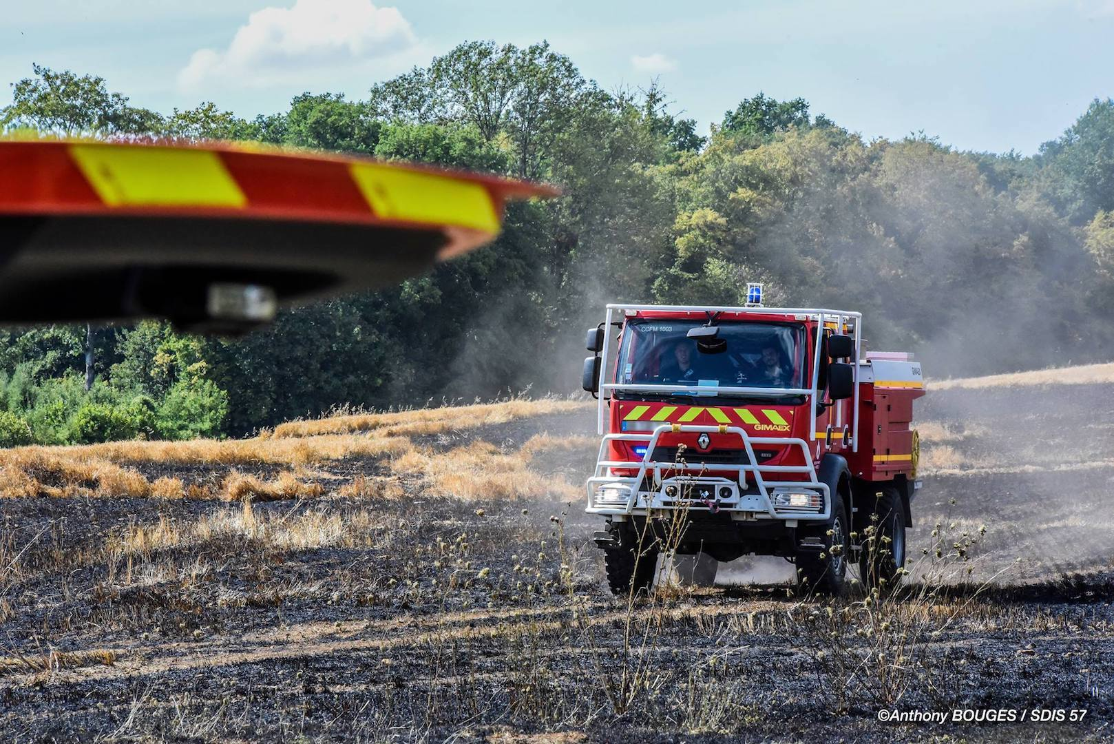 🇫🇷 Fontoy (57) : Feu de chaume d'un hectare