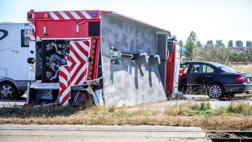 🇧🇪 Blankenberge : Un camion de pompiers se renverse