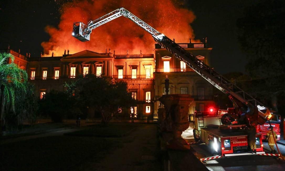 🇧🇷 Rio : Incendie au Musée national