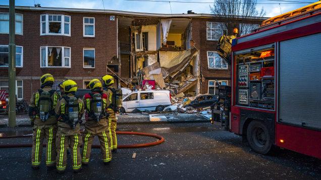 🇳🇱 La Hague : Une explosion de gaz provoque l'effondrement d'un bâtiment
