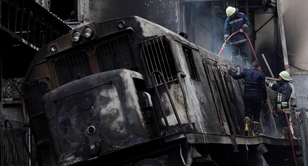 🇪🇬 Caire : Un accident de train provoque un incendie dans la gare centrale