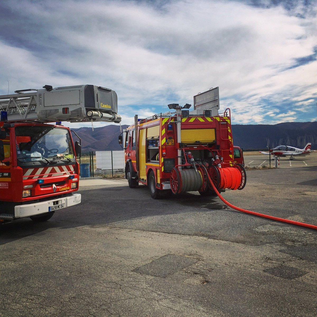 🇫🇷 Château-Arnoux-Saint-Auban (04) : Départ de feu à l'aérodrome