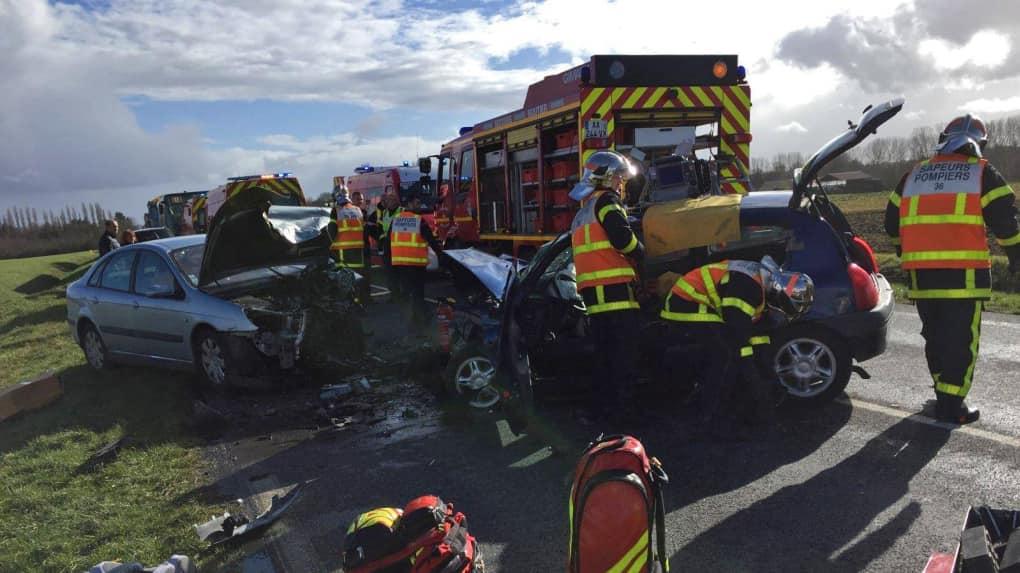 🇫🇷 Ardente (36) : Face à face fatal entre deux voitures