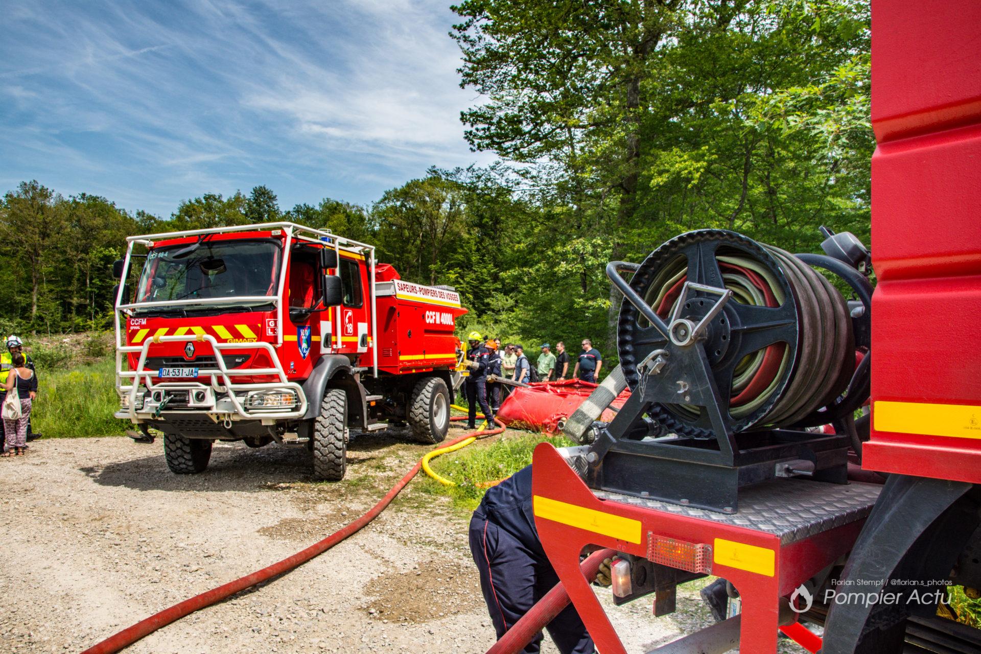 🇫🇷 Charmes (88) : Exercice feu de forêt en collaboration avec l'ONF