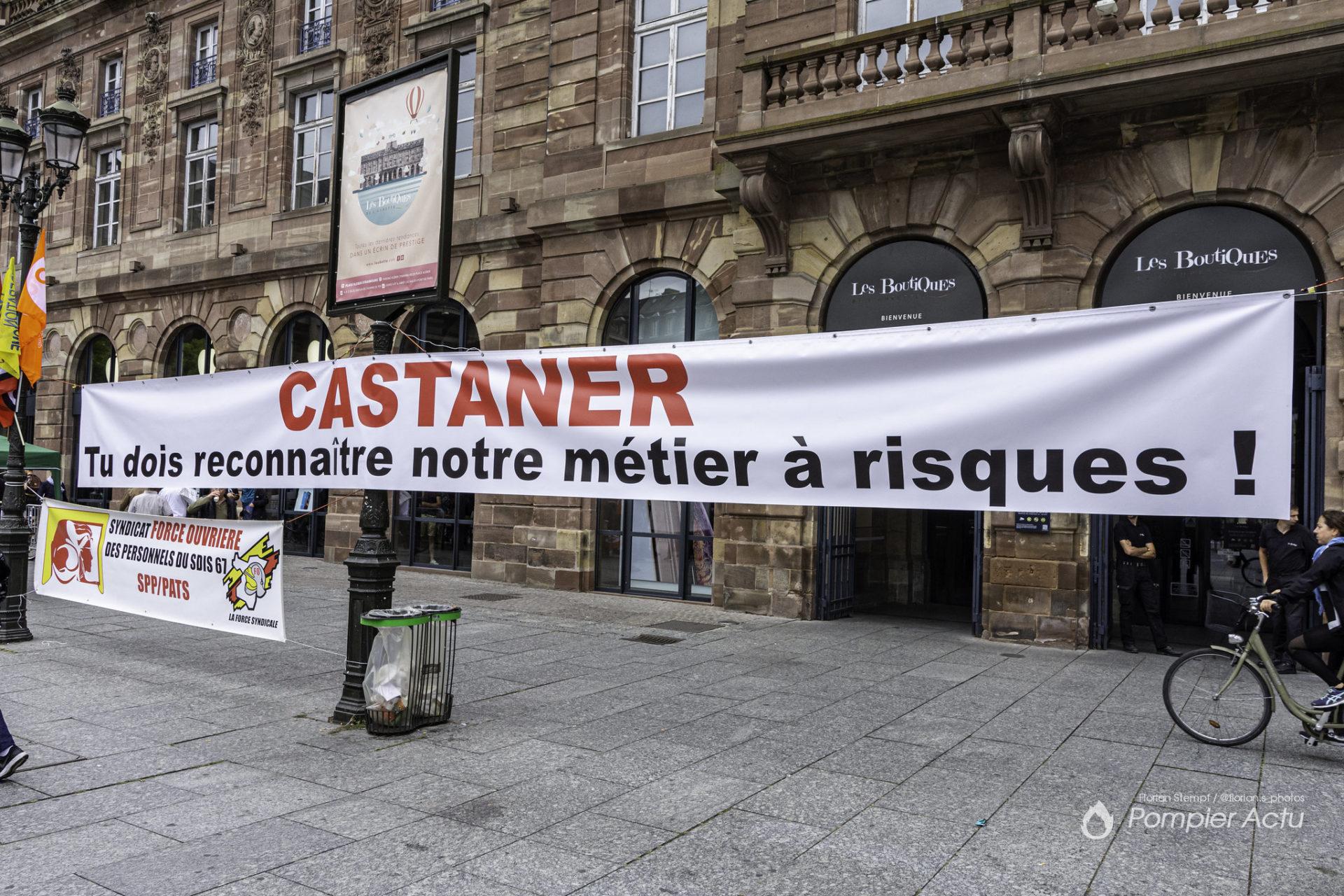🇫🇷 Strasbourg (67) : Manifestation des pompiers