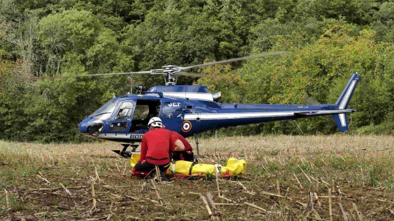 🇫🇷 Saint-Denis-lès-Martel (46) : Un vététiste fait une chute de 5 mètres