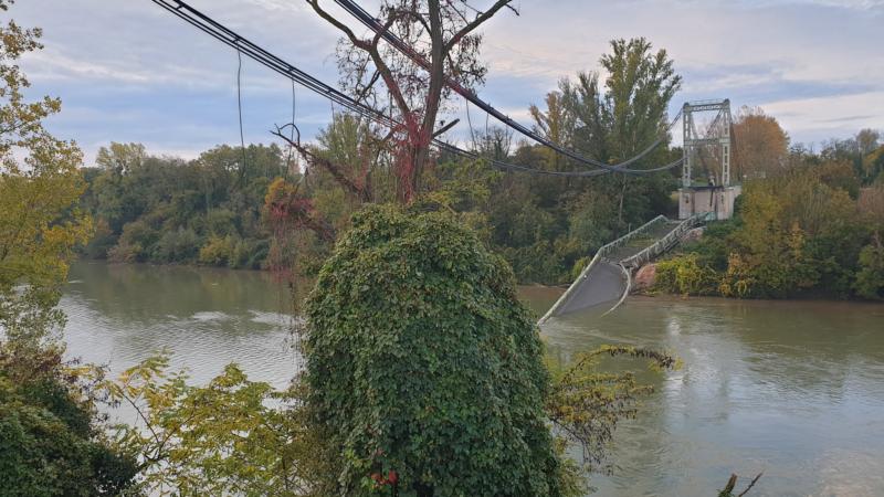 🇫🇷 Mirepoix-sur-Tarn (31) : Effondrement d'un pont suspendu