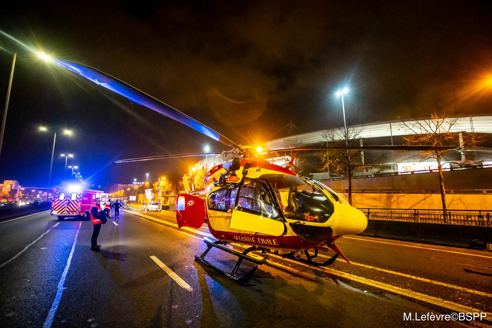 🇫🇷 Saint-Denis (93) : Sur-accident dramatique, l'hélicoptère de la Sécurité Civile se pose sur l'A1